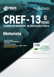 Download Apostila CREF-13º Região - Motorista (PDF)