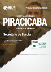 Apostila Prefeitura de Piracicaba - SP - Secretário de Escola