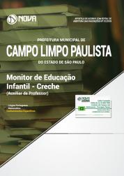 Apostila Prefeitura de Campo Limpo Paulista - SP - Monitor de Educação Infantil - Creche (Auxiliar de Professor)