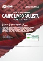 Download Apostila Prefeitura de Campo Limpo Paulista - SP - Professor PEB I e PEB II (PDF)