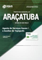 Apostila Prefeitura de Araçatuba - SP - Agente de Serviços Gerais I e Auxiliar de Topógrafo