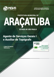 Download Apostila Prefeitura de Araçatuba - SP - Agente de Serviços Gerais I e Auxiliar de Topógrafo (PDF)