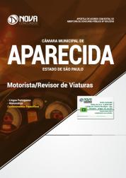 Apostila Câmara de Aparecida - SP - Motorista/Revisor de Viaturas