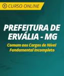 Curso Online Prefeitura de Ervália - MG - Comum aos Cargos de Nível Fundamental Incompleto