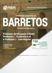 Apostila Prefeitura de Barretos - SP - Professor de Educação Infantil, Professor I - Suplência EJA e Sala Regular