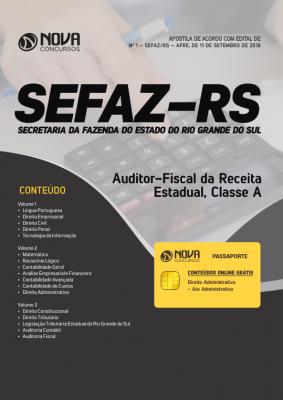 Apostila SEFAZ-RS - Auditor-Fiscal da Receita Estadual, Classe A