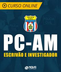 Curso Online PC-AM 2019 - Escrivão e Investigador de Polícia