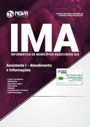Download Apostila IMA de Campinas - SP - Assistente I - Atendimento e Informações (PDF)