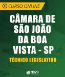 Curso Online Câmara de São João da Boa Vista - SP - Técnico Legislativo