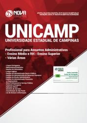 Apostila UNICAMP-SP - Profissional para Assuntos Administrativos - Ensino Médio e RH - Ensino Superior - Várias Áreas