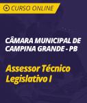 Curso Online Câmara de Campina Grande - PB - Assessor Técnico Legislativo I