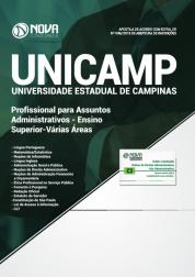 Apostila UNICAMP-SP - Profissional para Assuntos Administrativos - Ensino Superior - Várias Áreas