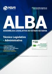Apostila Assembleia Legislativa da Bahia (ALBA) - Técnico Administrativo - Administrativa