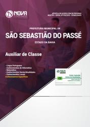 Download Apostila Prefeitura de São Sebastião do Passé - BA - Auxiliar de Classe (PDF)