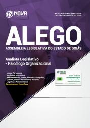 Apostila Assembleia Legislativa  de Goiás (ALEGO) - Analista Legislativo - Psicólogo Organizacional