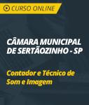 Curso Online Câmara de Sertãozinho - SP - Contador e Técnico de Som e Imagem
