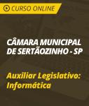 Curso Online Câmara de Sertãozinho - SP - Auxiliar Legislativo: Informática