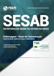 Apostila SESAB-BA 2018 - Enfermagem - Áreas de Concentração