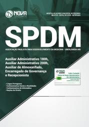 Download Apostila SPDM-MG 2018 - Auxiliar Administrativo (180h e 200h), Aux. Almoxarifado, Encarregado de Governança e Recepcionista