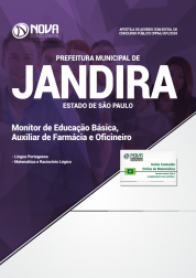 Download Apostila Prefeitura de Jandira - SP 2018 - Monitor de Educação Básica, Auxiliar de Farmácia e Oficineiro