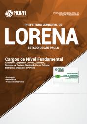 Apostila Prefeitura de Lorena - SP 2018 - Cargos de Nível Fundamental