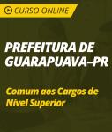 Curso Online Prefeitura de Guarapuava - PR  - Comum aos Cargos de Nível Superior