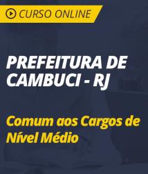 Curso Online de Português para Prefeitura de Cambuci - RJ - 2018 - Comum aos Cargos de Nível Médio