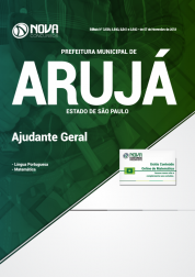 Apostila Prefeitura de Arujá - SP 2019 - Ajudante Geral