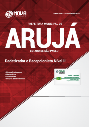 Apostila Prefeitura de Arujá - SP 2019 - Dedetizador e Recepcionista Nível II