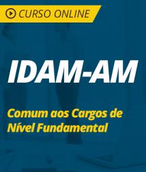 Curso Online IDAM-AM 2019 - Comum aos Cargos de Nível Fundamental