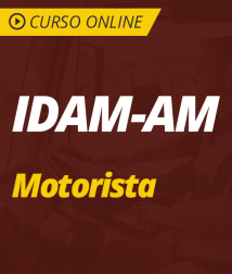 Curso Online IDAM-AM 2019 - Motorista