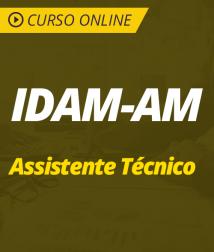 Curso Online IDAM-AM 2019 - Assistente Técnico