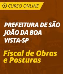 Curso Online de Português e Matemática para Prefeitura de São João da Boa Vista - SP - Fiscal de Obras e Posturas