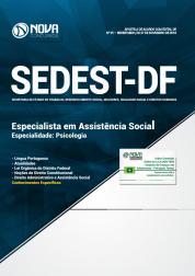 Apostila SEDEST-DF 2019 - Especialista em Assistência Social - Especialidade: Psicologia