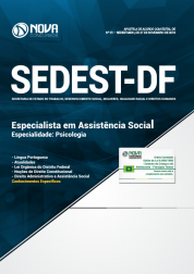 Apostila Download SEDEST-DF 2019 - Especialista em Assistência Social - Especialidade: Psicologia