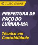 Curso Online Prefeitura de Paço do Lumiar - MA 2018 - Técnico em Contabilidade