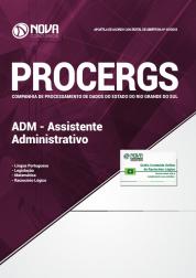 Apostila Download PROCERGS-RS 2019 - ADM - Assistente Administrativo