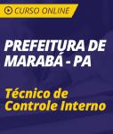 Curso Online Prefeitura de Marabá - PA 2018 - Técnico de Controle Interno