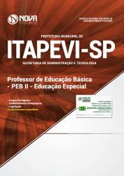 Apostila Prefeitura de Itapevi - SP 2019 Professor de Educação Básica - PEB II Educação Especial