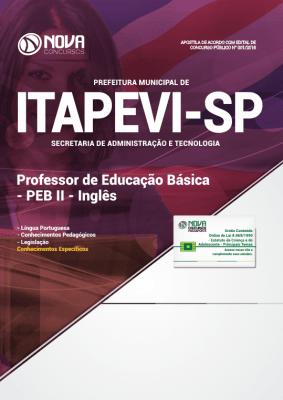 Apostila Prefeitura de Itapevi - SP 2019 Professor de Educação Básica - PEB II - Inglês