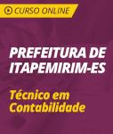 Curso Online Prefeitura de Itapemirim - ES 2019 - Técnico em Contabilidade