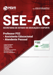 Apostila SEE-AC 2019 - Professor PS2 - Assistente Educacional - Atendente Pessoal