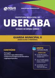 Apostila Prefeitura de Uberaba - MG 2019 - Guarda Municipal II (Masculino e Feminino)