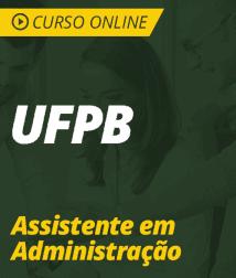 Curso Online UFPB 2019 - Assistente em Administração