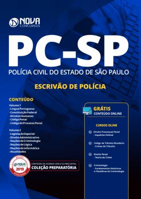 Apostila Download PC-SP 2019 - Escrivão de Polícia