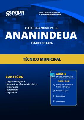 Apostila Prefeitura de Ananindeua - PA 2019 - Técnico Municipal