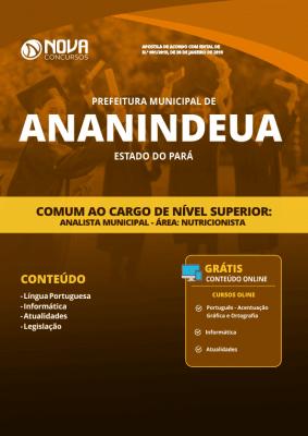 Apostila Prefeitura de Ananindeua - PA 2019 - Comum ao Cargo de Nível Superior (Analista Municipal - Área: Nutricionista)