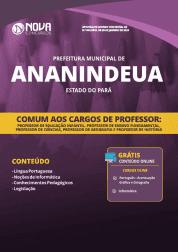 Apostila Prefeitura de Ananindeua - PA 2019 - Comum aos Cargos de Professor
