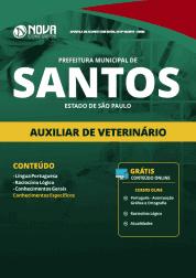 Apostila Prefeitura de Santos - SP 2019 - Auxiliar de Veterinário