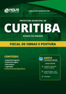 Apostila Prefeitura de Curitiba - PR 2019 - Fiscal de Obras e Postura
